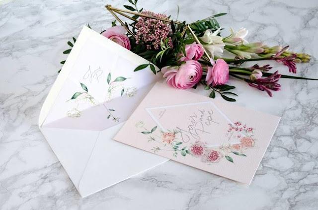 tarjeta de bodas elegantes