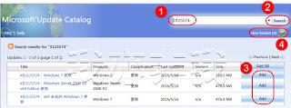 由 Microsoft Update Catalog 網站下載 KB3125574