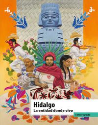 Libro de texto La entidad donde vivo Hidalgo Tercer grado 2021-2022