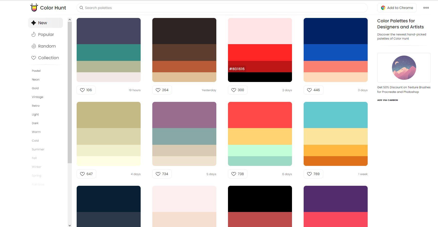 tempat mencari warna populer