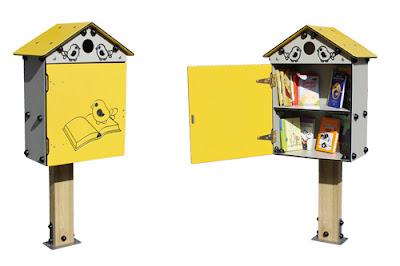Nido para libros es la little free library de Manufacturas Deportivas dirigido a niños y adolescentes para el intercambio de libros y cuentos.
