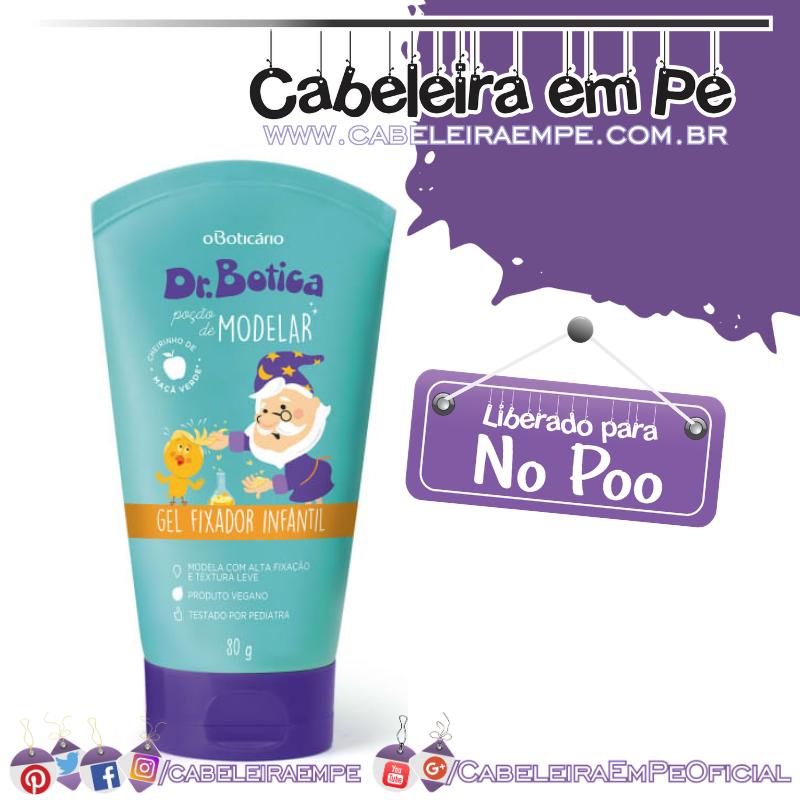 Gel Fixador Capilar Infantil Poção de Modelar Dr. Botica - O Boticário (No Poo)