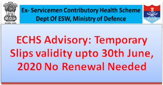 echs-advisory-temporary-slips-validity-upto-30th-june-2020-no-renewal-needed