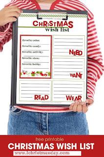 christmas wish list online