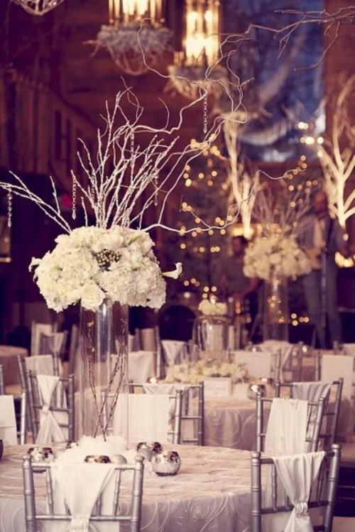 Winter Wedding Table Décor Ideas - Wedding Colours