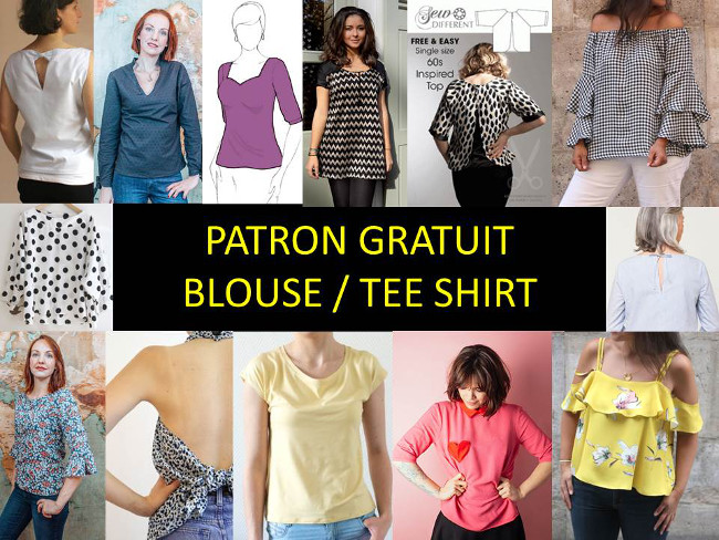 Tee Bettinael 16 TOP PATRON Tunique blouse GRATUIT Shirt zq4B8