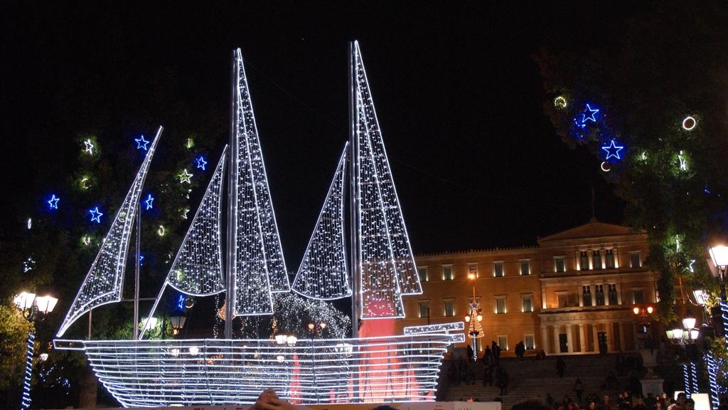 Greek Christmas.Londinoupolis The Greek Christmas Tree