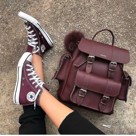 Burgundy accessories