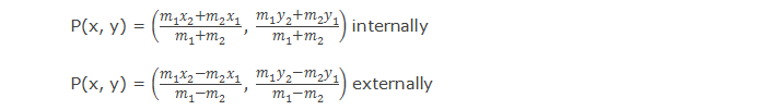 Section formula - Internally and externally