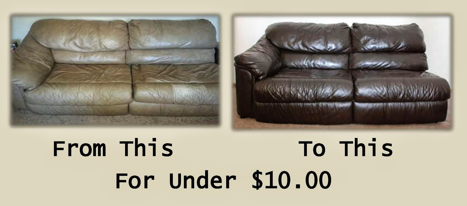 Hackleman S Happenings Leather Couch Make Over Diy