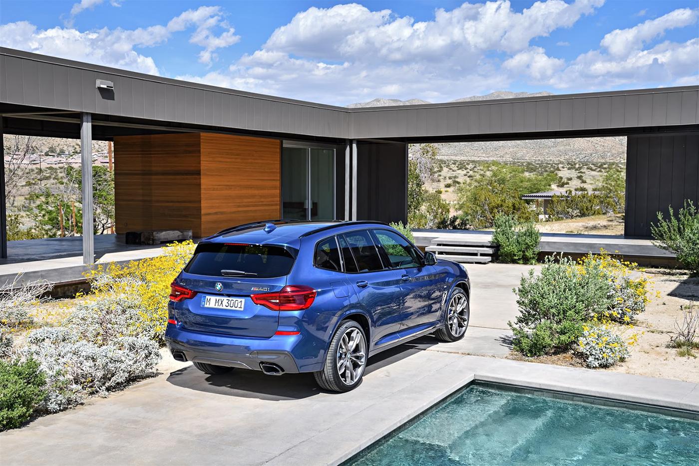 BMW X3 đời mới màu Xanh