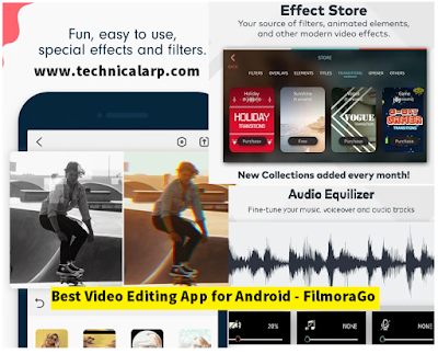 Best Video Editing App for Android - FilmoraGo Pro Ap