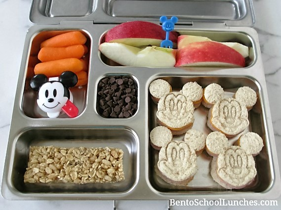 Mickey Mouse school lunches in Planetbox.