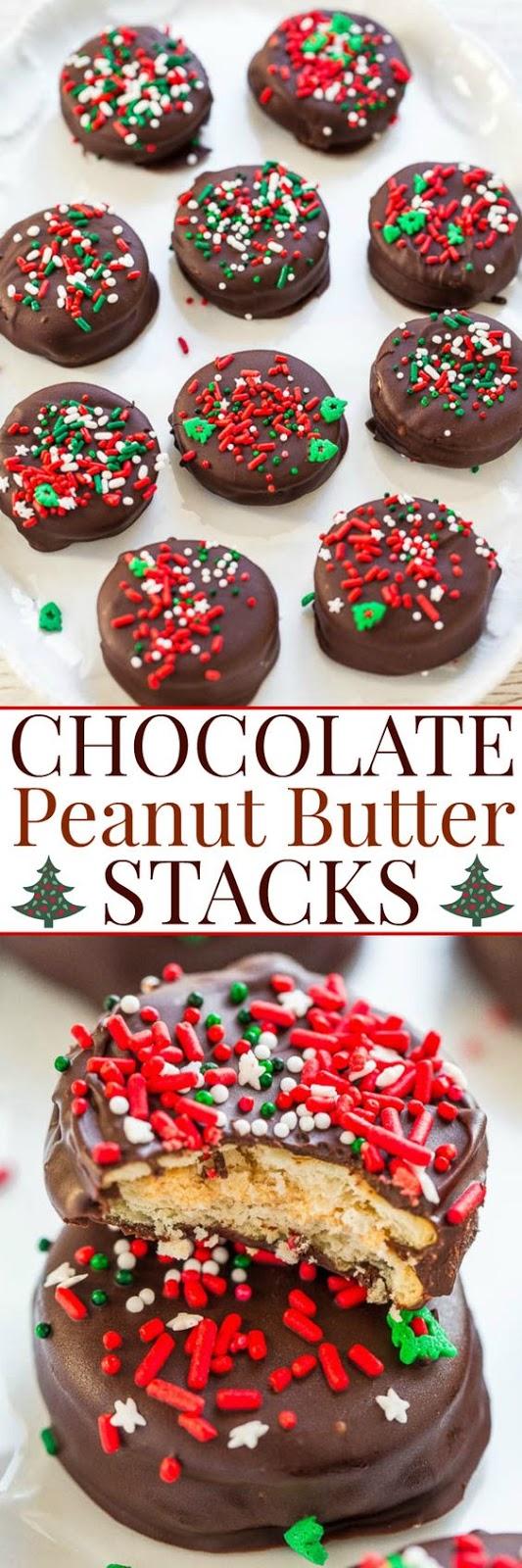 Chocolate Peanut Butter Stacks Recipe