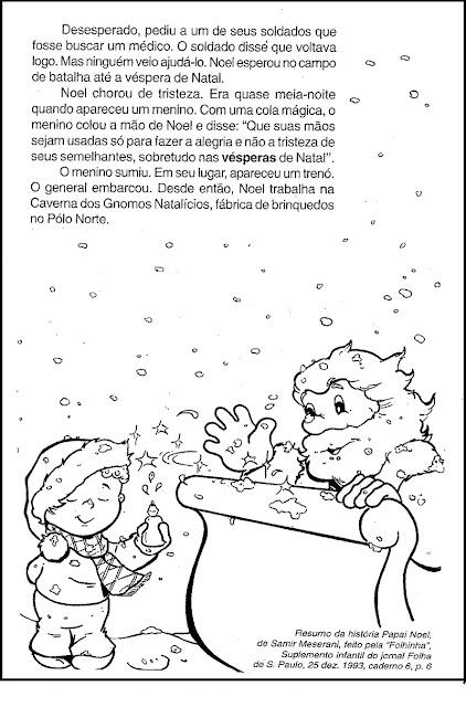 PROVA DE PORTUGUÊS COM TEXTO DE NATAL 4 ANO