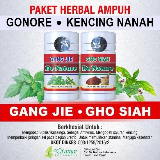 Pengobatan pneykait kelamin kencing nanah gonore dengan obat herbal De Nature