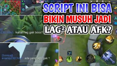 Script Bikin Musuh Lag atau AFK Patch Terbaru Mobile Legends: Bang Bang