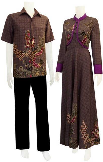 Sarimbit Baju Gamis Batik Uma - Batik Bagoes Solo