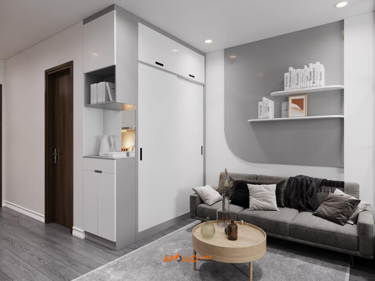 Thiết kế nội thất căn hộ Studio Vinhomes Smart City phong cách hiện đại
