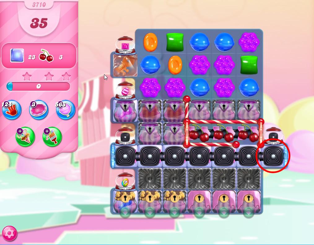 Candy Crush Saga level 3710