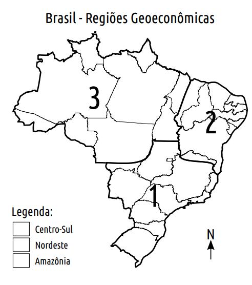 blog de geografia mapa das regiões geoeconômicas do brasil para colorir