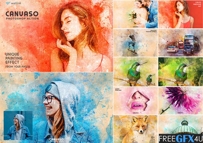 Canvaso Photoshop Action - Canvaso painting