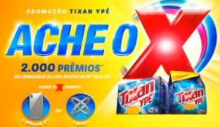 Promoção Tixan Ypê Ache o X 2 Mil Prêmios Embalagens Sabão Pó Iphone X ou Anel