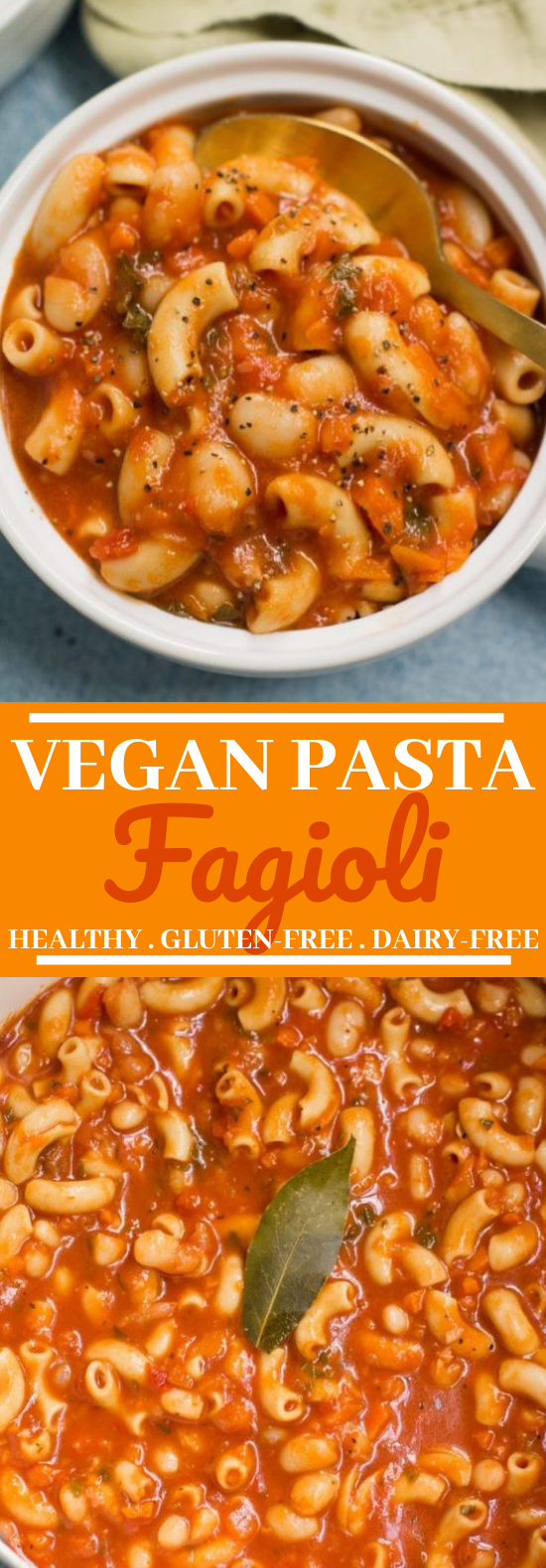 Vegan Pasta Fagioli #vegan #dinner