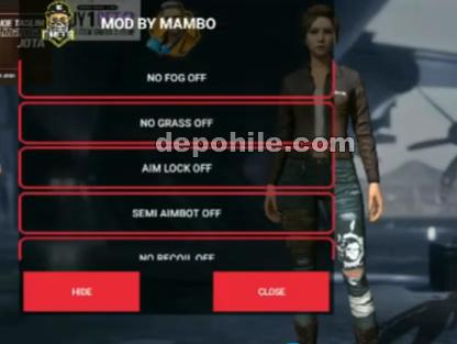Free Fire Mambo Mod Aim, Anten, Sekmeme Hilesi Nisan 2020