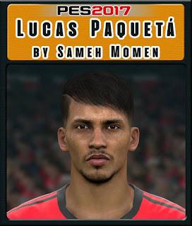 PES 2017 Faces Lucas Paquetá by Sameh Momen
