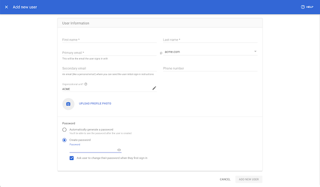 New streamlined experience for managing users and domains in the Admin console 2