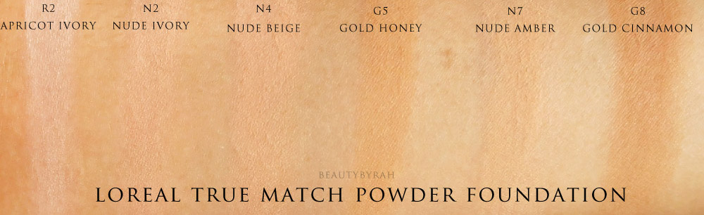 Loreal True Match Powder Foundation Swatches Singapore
