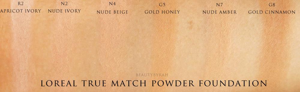 Loreal True Match Powder Foundation Swatches Singapore