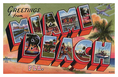 Miami Beach Vintage Postcard