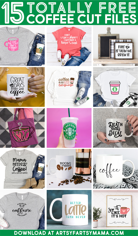 15 Free Coffee Cut Files