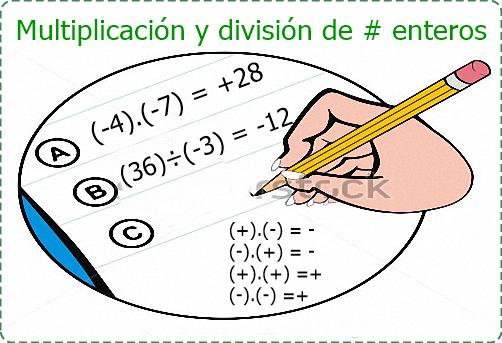 Multiplicación Y División De Números Enteros Serie 23