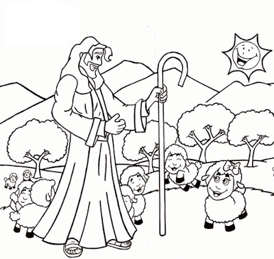 coloring pages of the good shepherd coloring home plan and house