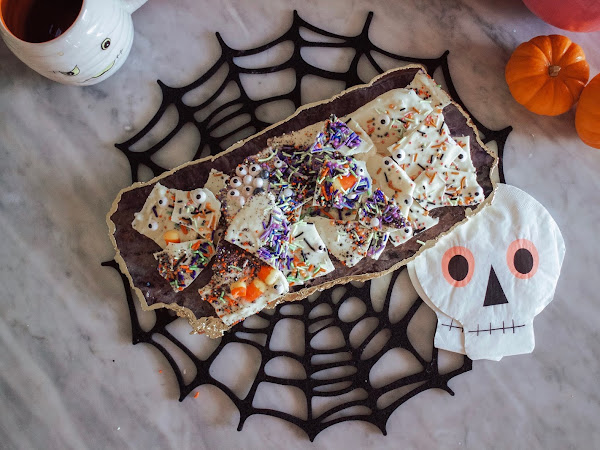 "Kid-Friendly Halloween ""Boo"" Bark"