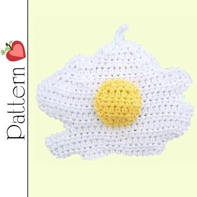Como hacer un Huevo Frito de Crochet