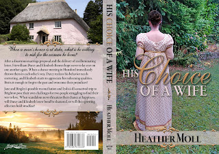 Full Wrap Book cover - His Choice of a Wife by Heather Moll