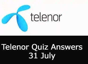 Telenor Answers Today 31 July