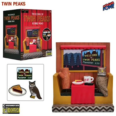 San Diego Comic-Con 2020 Exclusive Twin Peaks Icons Bobble Head Diorama by Bif Bang Pow! x Entertainment Earth