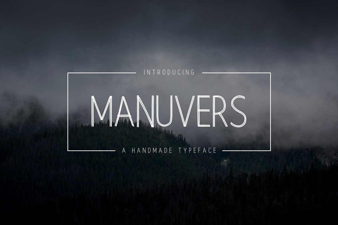 Manuvers - Handmade Sans Download Font Free | The Font Space