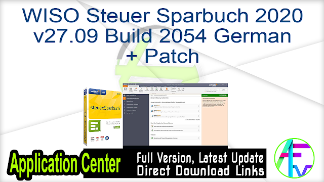 Wiso Steuer Sparbuch 2020 V27 09 Build 2054 German Patch Free Download