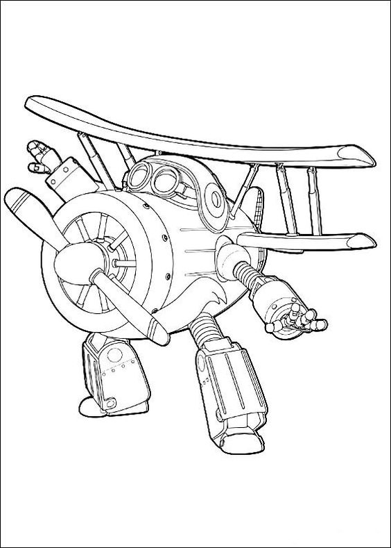 Super wings smart coloring pages 12