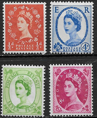 Great Britain , 1952_54 , Queen Elizabeth II , Set Of 4