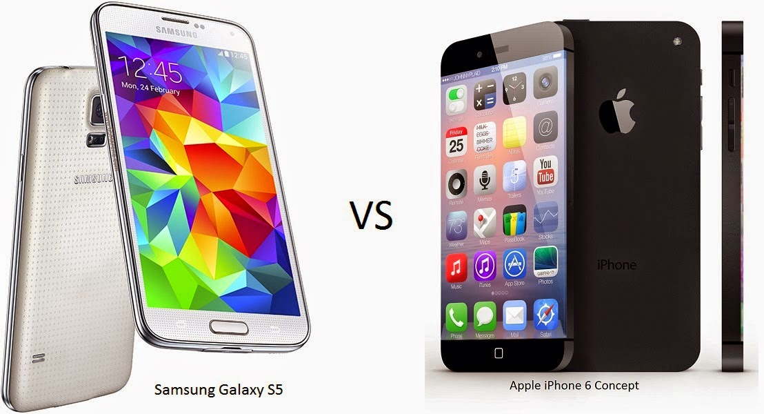Iphone 6 vs Galaxy S5-...