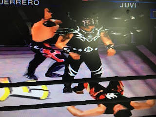 WCW Mayhem - PlayStation1 Review - Eddie vs. Juvi vs. Psycosis
