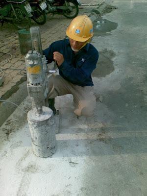 Khoan cắt bê tông tại phường Linh Tây