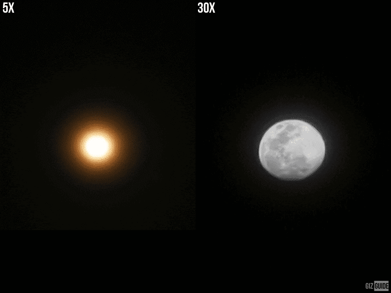 5x, 30x zoom